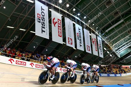Ethan Hayter, Ed Clancy, Kian Emadi and Oliver Wood of Great Britain.