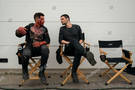Jon Bernthal as Frank Castle/The Punisher and Ben Barnes as Billy Russo