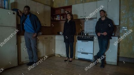 Jason R. Moore as Curtis Hoyle, Amber Rose Revah as Dinah Madani and Jon Bernthal as Frank Castle/The Punisher