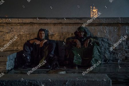 Jon Bernthal as Frank Castle/The Punisher and Jason R. Moore as Curtis Hoyle