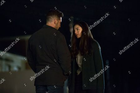 Stock Image of Jon Bernthal as Frank Castle/The Punisher and Alexa Davalos as Beth Quinn