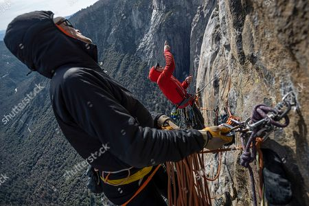 Stock Image of Alex Honnold and Conrad Anker