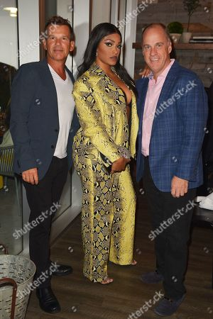 Rodrick Vanderbilt, owners of Moviepass films, Joseline Hernandez and Ted Farnsworth, owners of Moviepass films