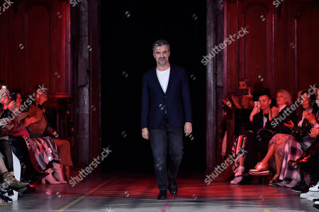 Portuguese designer Luis Buchinho appears on the runway after the presentation of his Fall/Winter 2019/20 Women collection during the Paris Fashion Week, in Paris, France, 27 February 2019. The presentation of the Women collections runs from 25 February to 05 March.