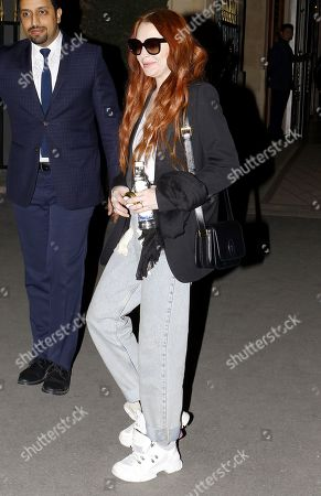 Editorial picture of Lindsay Lohan out and about, Paris Fashion Week, France - 27 Feb 2019
