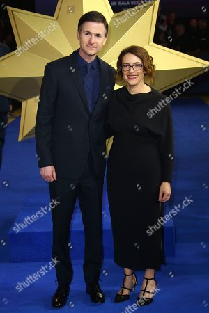 Ryan Fleck, Anna Boden. Directors Ryan Fleck and Anna Boden pose for photographers upon arrival at the European Gala of Captain Marvel at a central London cinema