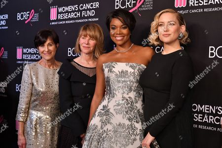 President & CEO of BCRF Myra Biblowit, Kate Capshaw, Gabrielle Union, and Kate Hudson