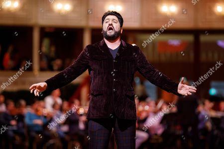 Azerbaijani tenor Yusif Eyvazov perform during a dress rehearsal for the traditional 63rd Vienna Opera Ball at the Vienna State Opera in Vienna, Austria, 27 February 2019. The Vienna Opera Ball takes place on 28 February.
