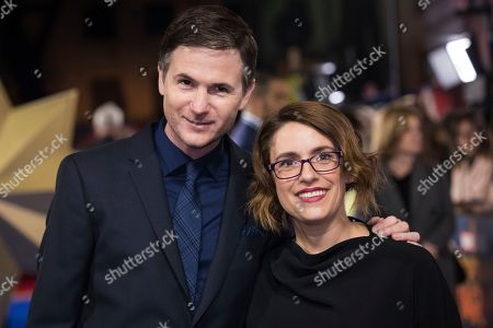 Ryan Fleck, Anna Boden. Ryan Fleck and Anna Boden pose for photographers upon arrival at the premiere of the film 'Captain Marvel', in London