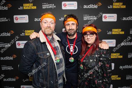 Rufus Hound, Mark Watson and Angela Barnes