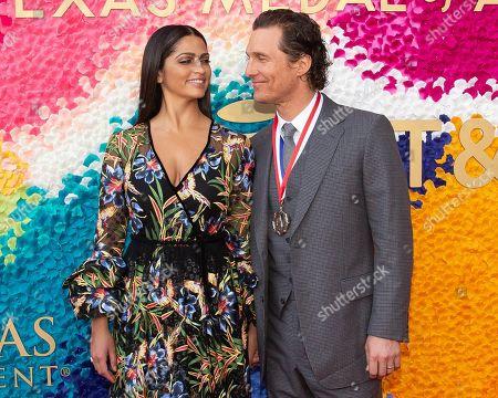 Camila Alves and honoree Matthew McConaughey