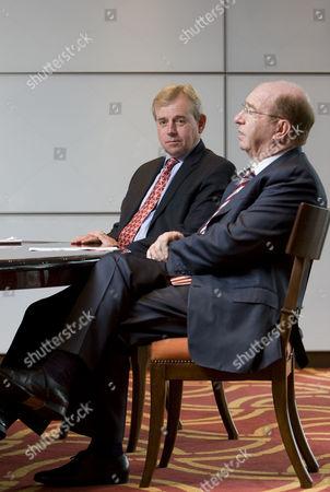Lloyds CEO Richard Ward  and Lloyds Insurance Group Chairman Lord Peter Levene