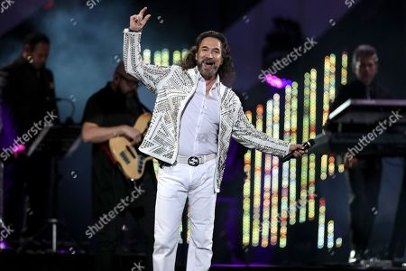 Marco Antonio Solis performs during the Vina del Mar International Festival, in Vina del Mar, Chile, 27 February 2019.