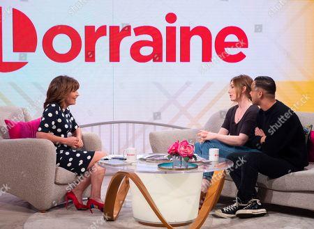 Lorraine Kelly, Rosie Marcel and Shaheen Jafargholi