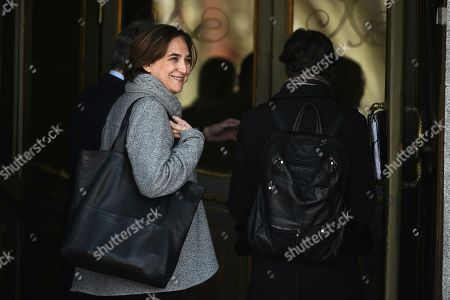 Barcelona's Mayoress, Ada Colau, arrives to testify as a witness in the so-called 'proces' trial against 12 Catalan separatists leaders involved in the illegal independence referendum held back in 2017 at the Supreme Court in Madrid, Spain, 28 February 2019. Catalan pro-independence ERC party's spokesperson and Member in Parliament, Gabriel Rufian, the former Minister of Interior Juan Ignacio Zoido and the Basque regional President, Inigo Urkullo, are among the ten witnesses called to testify in the trial along the day.