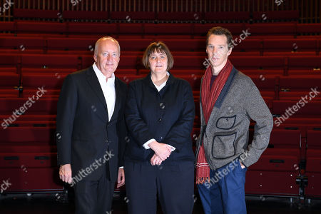 Benedict Cumberbatch, President of LAMDA, London Academy of Music and Dramatic Art and Shaun Woodward, Chair of LAMDA, welcome Sarah Frankcom as the Academy's new Director