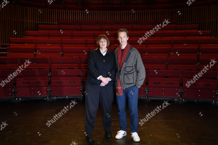 Stock Photo of Benedict Cumberbatch, President of LAMDA, London Academy of Music and Dramatic Art welcomes Sarah Frankcom as the Academy's new Director
