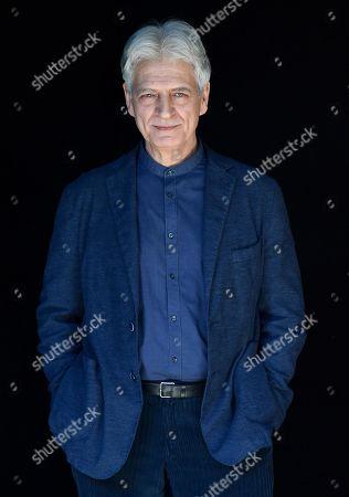Fabrizio Bentivoglio poses during a photocall for the Rai TV series 'Il nome della rosa' (The Name of the Rose) in Rome, Italy, 28 February 2019.
