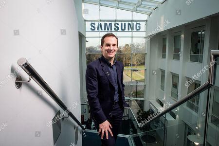 Editorial picture of Samsung UK Vice president Conor Pierce, Chertsey, Surrey, UK - 13 Feb 2019