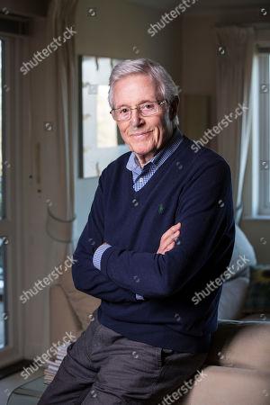 Editorial photo of Michael Aspel photoshoot, Weybridge, Surrey, UK - 14 Feb 2019