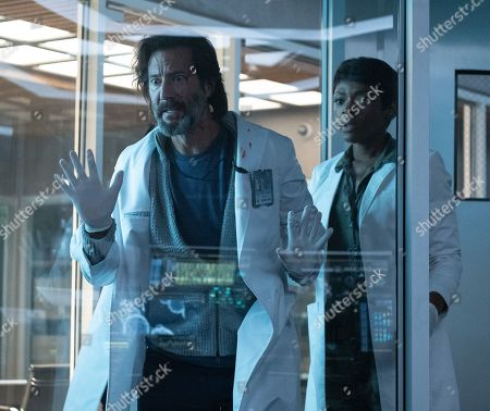 Henry Ian Cusick as Dr. Jonas Lear and Caroline Chikezie as Dr. Major Nichole Sykes