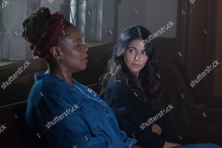 Kecia Lewis as Lacey Antoine and Emmanuelle Chriqui as Dr. Lila Kyle