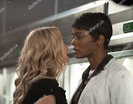 Brianne Howey as Shauna Babcock and Caroline Chikezie as Dr. Major Nichole Sykes