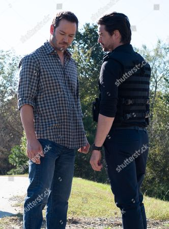 Stock Picture of Mark-Paul Gosselaar as Brad Wolgast and Vincent Piazza as Clark Richards