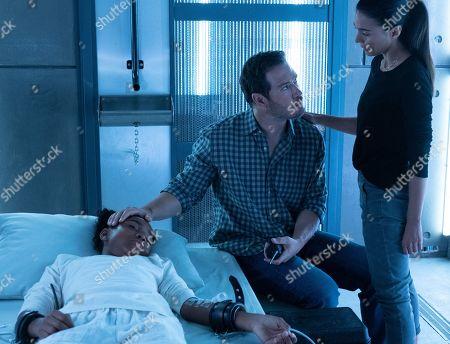 Saniyya Sidney as Amy Bellafonte, Mark-Paul Gosselaar as Brad Wolgast and Emmanuelle Chriqui as Dr. Lila Kyle