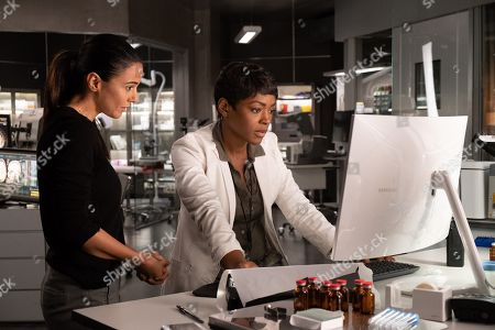 Emmanuelle Chriqui as Dr. Lila Kyle and Caroline Chikezie as Dr. Major Nichole Sykes