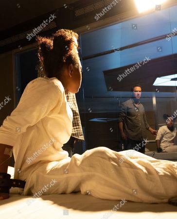 Saniyya Sidney as Amy Bellafonte and Mark-Paul Gosselaar as Brad Wolgast