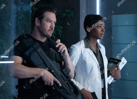 Mark-Paul Gosselaar as Brad Wolgast and Caroline Chikezie as Dr. Major Nichole Sykes