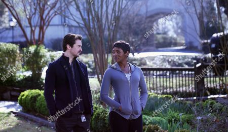 Vincent Piazza as Clark Richards and Caroline Chikezie as Dr. Major Nichole Sykes