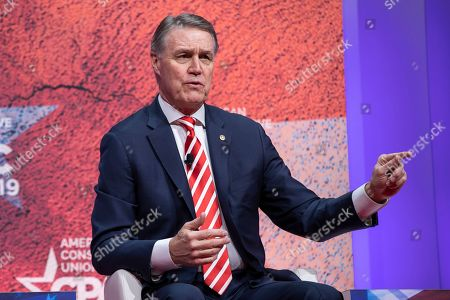 Republican Senator of Georgia David Perdue participates in the 46th annual Conservative Political Action Conference (CPAC) at the Gaylord National Resort & Convention Center in National Harbor, Maryland, USA, 28 February 2019. The American Conservative Union's CPAC continues through 02 March.