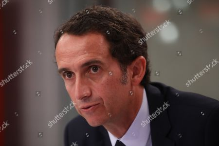Editorial picture of Alexandre Bompard interviewed on RTL Matin radion, Paris, France - 28 Feb 2019