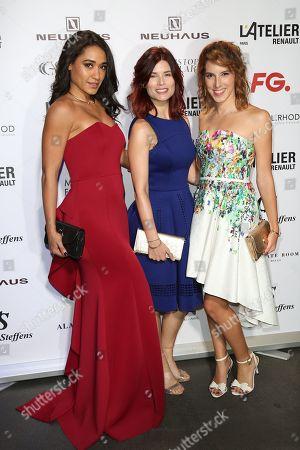 Josephine Jobert, Flavie Pean and Lea Francois