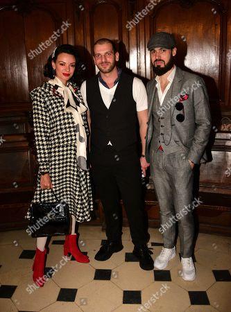 Editorial photo of Diogo Miranda show, Front Row, Fall Winter 2019, Paris Fashion Week, France - 27 Feb 2019