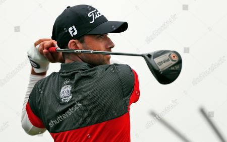 Ben Silverman, of Canada, tees off on the 13th hole during the first round of the Honda Classic golf tournament, in Palm Beach Gardens, Fla
