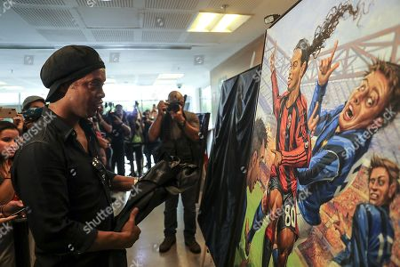 Editorial picture of Maracana Stadium inaugurates space dedicated to Ronaldinho, R? De Janeiro, Brazil - 28 Feb 2019