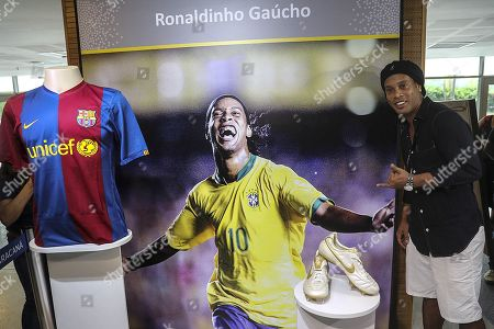 Editorial image of Maracana Stadium inaugurates space dedicated to Ronaldinho, R? De Janeiro, Brazil - 28 Feb 2019