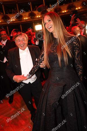 Stock Photo of Elle MacPherson and Richard Lugner