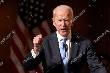 Editorial photo of Joe Biden, Omaha, USA - 28 Feb 2019