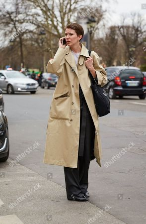 Editorial picture of Street Style, Fall Winter 2019, Paris Fashion Week, France - 28 Feb 2019
