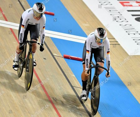 Miriam Welte and Emma Hinze GER during the Womens Teamsprint