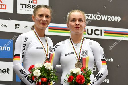 Stock Image of Emma Hinze and Miriam Welte GER win a bronze medal on the Team sprint