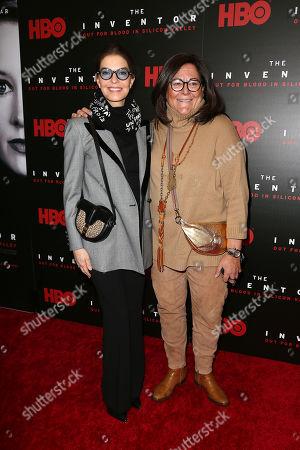 Sela Ward and Fern Mallis