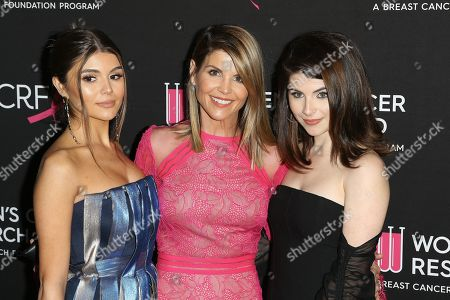 (L-R) Olivia Jade Gianulli, Lori Loughlin and Isabella Gianulli arrive for the Women's Cancer Research Fund's (WCRF) 'An Unforgettable Evening' gala at the Beverly Wilshire Four Seasons Hotel in Beverly Hills, California, USA 28 February 2019 (issued 01 March 2019).