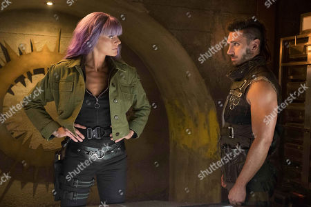 Stock Image of Eliza Coupe as Tiger and Derek Wilson as Wolf