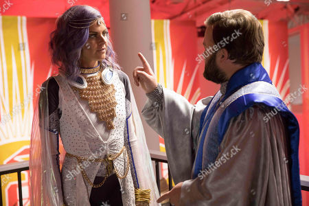 Eliza Coupe as Tiger and Haley Joel Osment as Stu Camillo