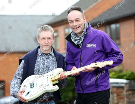 When Dave Allen's Cherished Signed Guitar Went Missing In The Post A Decade Ago He Gave Up Hope Of Ever Seeing The £20 000 Item Again Until It Turned Up On Ebay Recently. Dave Allen Left With Andy Goss Of The Charity Rainbows Which Will Be The Recipients When The Guitar Is Auctioned Off.